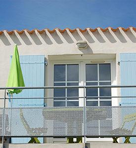 Balcon du studio de vacances