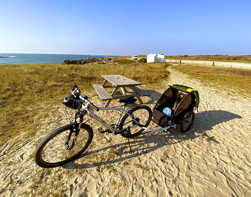 Location vélo remorque bébé