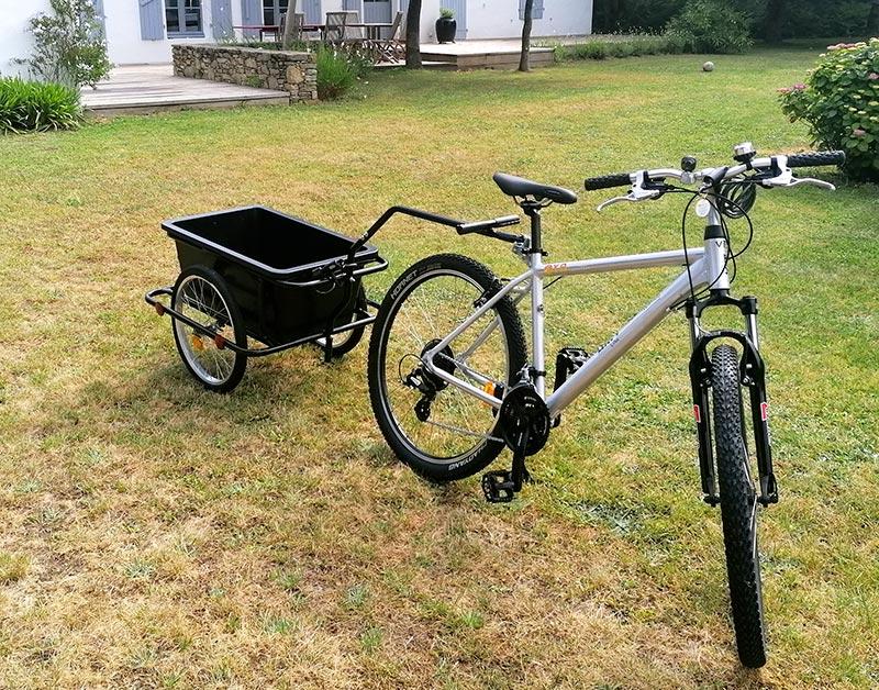 Location vélo remorque bagages