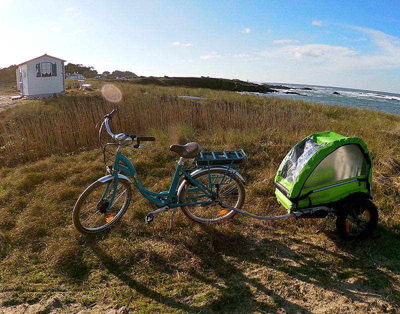 Location vélo remorque enfants