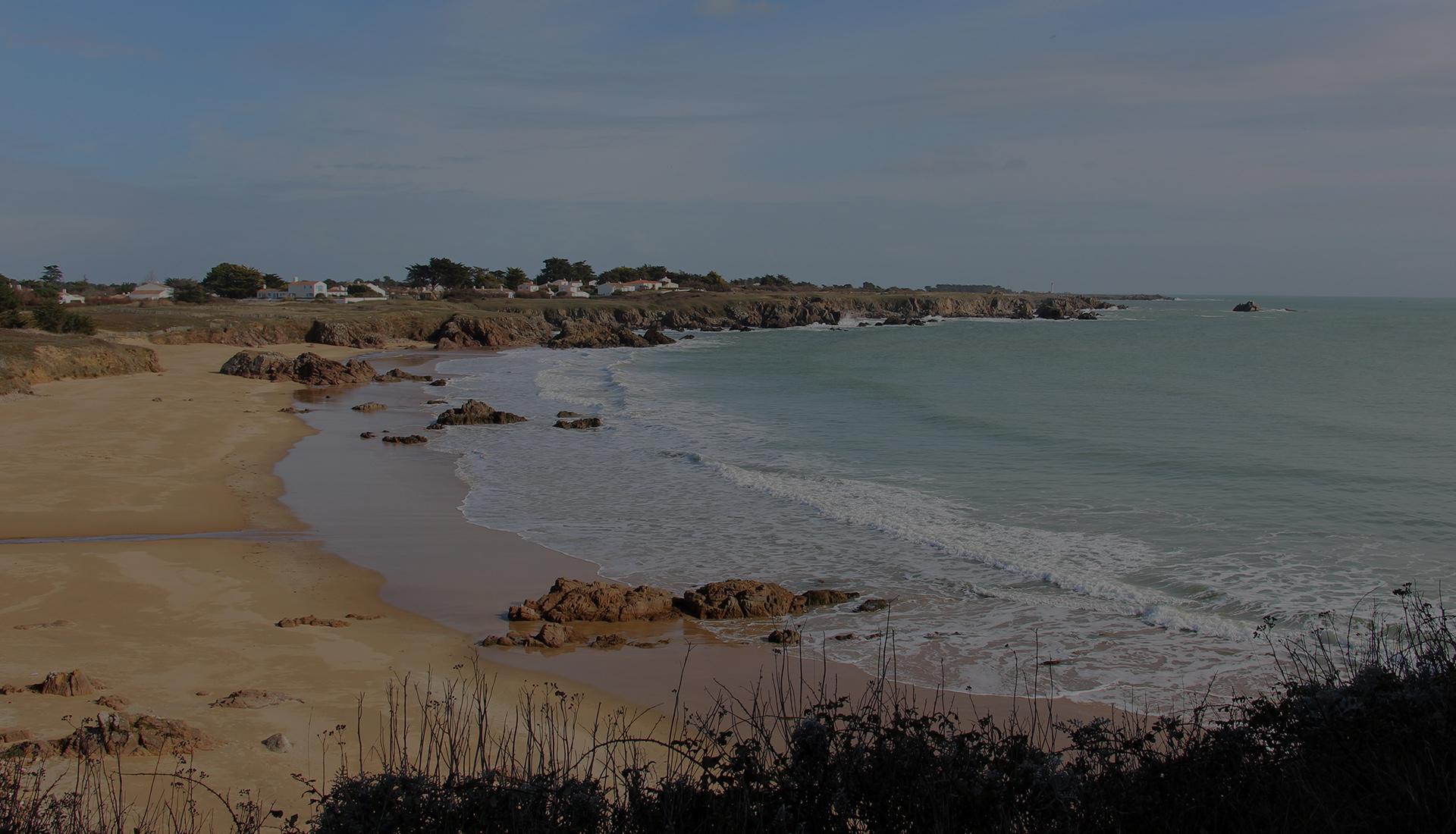 Plage de l'océan atlantique avec sa nature