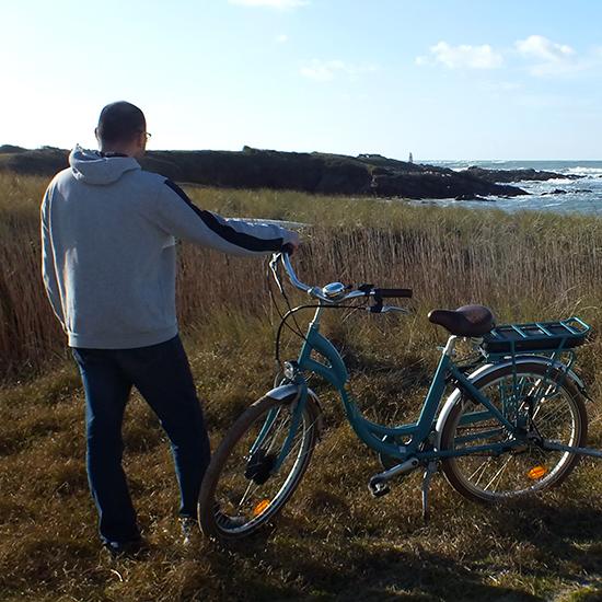 Balade à vélo sur la côte