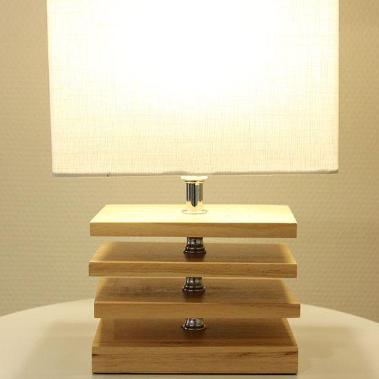 Lampe de chevet en bois