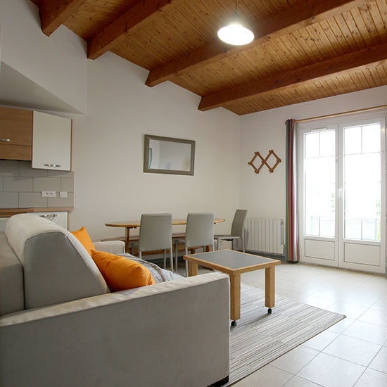 Salon-séjour de l'appartement de vacances