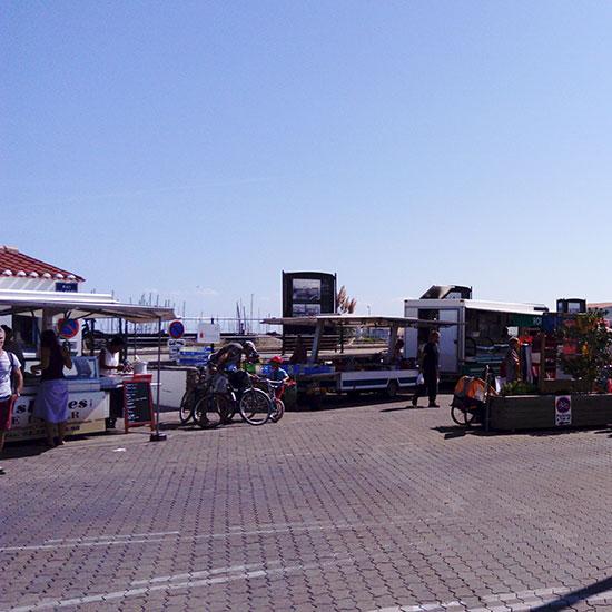 Marché de Port-Joinville sur l'île d'Yeu