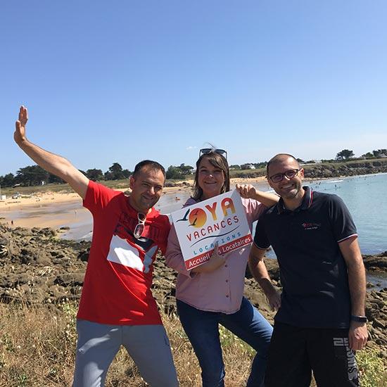 L'équipe Oya Vacances Locations : Pascal, Laurie et Fabrice